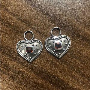 Jewelry - Heart shaped earring charms